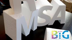 Изработка на обемни букви от стиропор