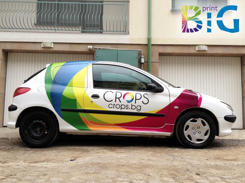 Частично облепване на фирмен автомобил www.bigprint.bg